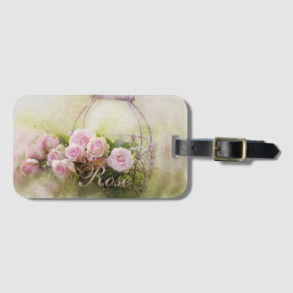 Basket of Roses Luggage Tag