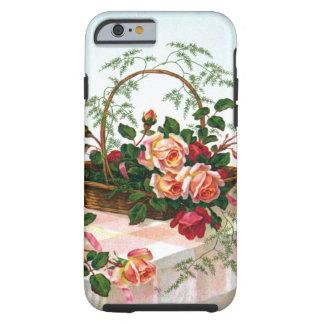 Basket of Roses vintage still life Tough iPhone 6 Case