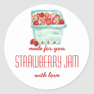Basket of Strawberries Jam Labels