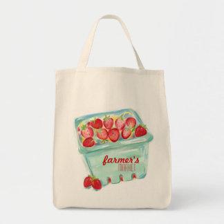 Basket of Strawberries Market Tote