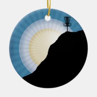 Basket On A Mountain Ceramic Ornament