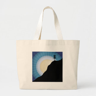 Basket On A Mountain Large Tote Bag