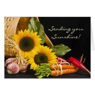 Basket -  Sending you Sunshine! Greeting Card