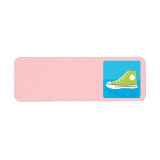Basket vert étiquette d'adresse retour