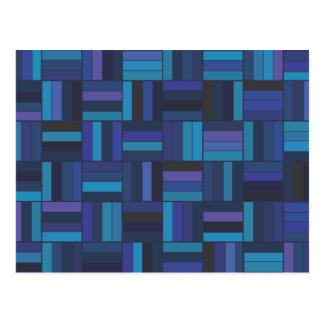 Basket Weave Dark Blue Postcard
