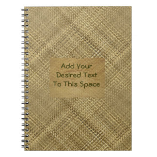 Basket Weave Effect Customizable Cover Text Notebooks