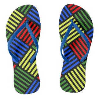 Basket Weave Flip Flops