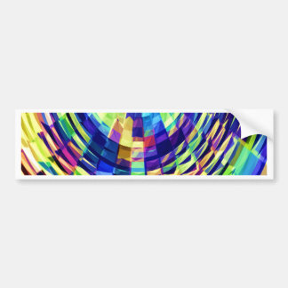 Basket Weave - Magical Diamond Raibow V1 Bumper Sticker