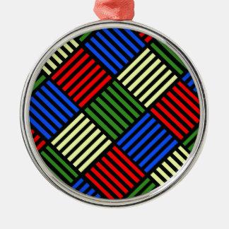 Basket Weave Metal Ornament