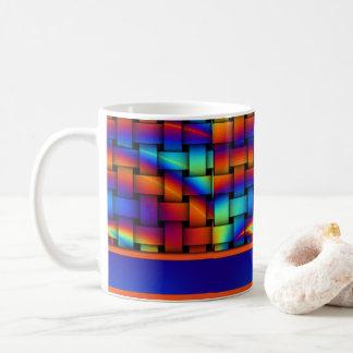 Basket Weave Pattern Design Coffee Mug