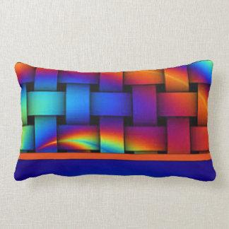 Basket Weave Pattern Design Lumbar Pillow