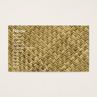 Basket weave pattern texture business card