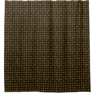 Basket Weave Woven Design Shower Curtain