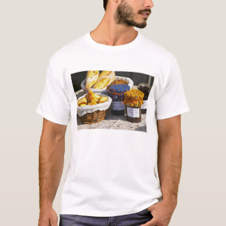Basket with croissants and chocolate breads. T-Shirt