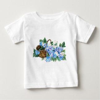 BASKET WITH  HYDRANGEAS BABY T-Shirt