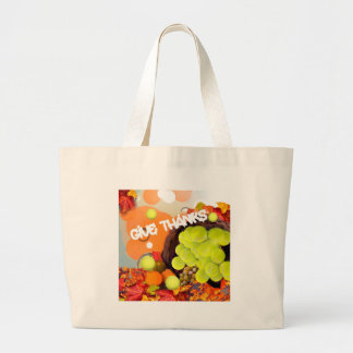 Basket with tennis ball in Thanksgiving Large Tote Bag