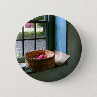 Basket with Yarn 2 Inch Round Button