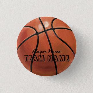 Basketball 1 Inch Round Button