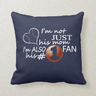 Basketball #1 Mom Throw Pillow