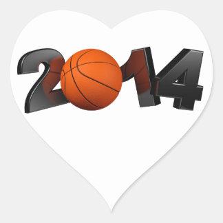 Basketball 2014 heart sticker