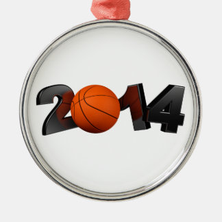Basketball 2014 metal ornament