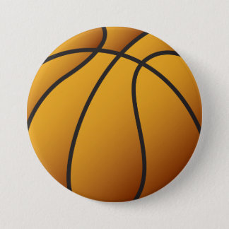 Basketball 3 Inch Round Button
