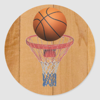 Basketball - 3D Effect Classic Round Sticker