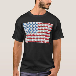 Basketball American Flag T-Shirt