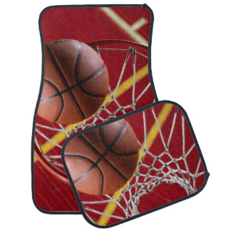 Basketball and Hoop Car Mats (Set of 4)