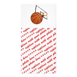 Basketball and Hoop Picture Card
