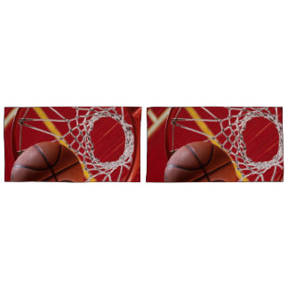 Basketball and Net Pair of Pillowcases
