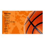 Basketball and Paint Splatter Business Cards