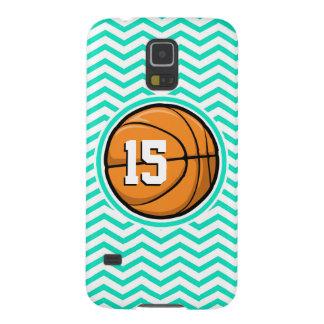 Basketball Aqua Green Chevron Cases For Galaxy S5