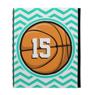Basketball Aqua Green Chevron iPad Folio Cover