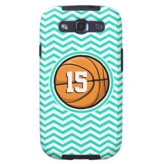 Basketball Aqua Green Chevron Galaxy S3 Cover