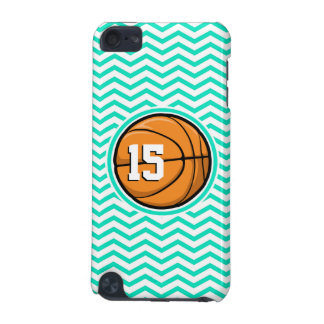 Basketball; Aqua Green Chevron iPod Touch (5th Generation) Case