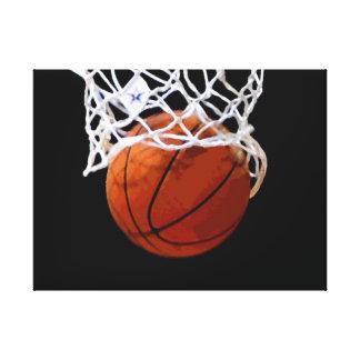 Basketball Artwork Wrapped Canvas