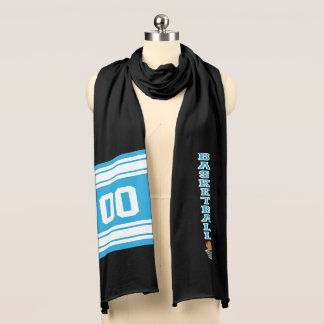 Basketball Baby Blue Letter Personalize Scarf