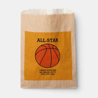 Basketball Bachelor Party Favor Bags