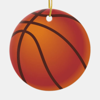 Basketball Ball Ceramic Ornament