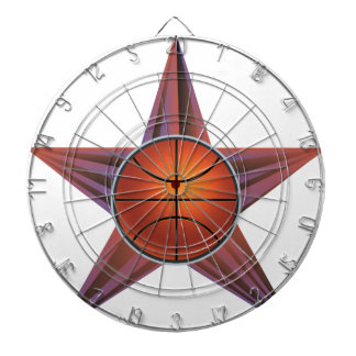 Basketball Ball on Rays Background 3 Dart Boards