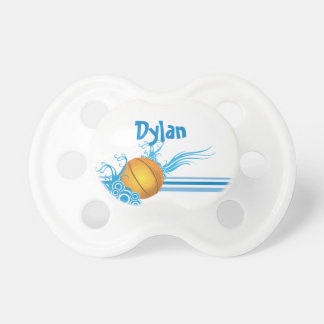 Basketball Ball Sports Game Personalized Name Pacifier