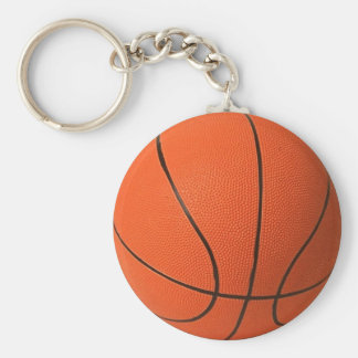 Basketball Basic Round Button Keychain
