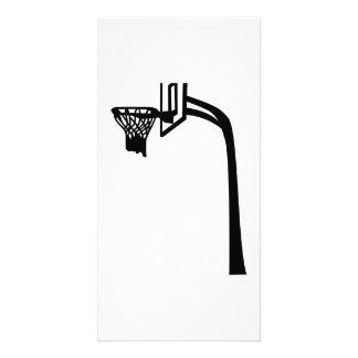 Basketball basket photo card