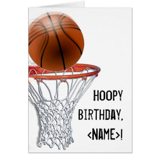 BASKETBALL BIRTHDAY CARDS