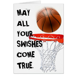 Basketball Birthday Greeting Card