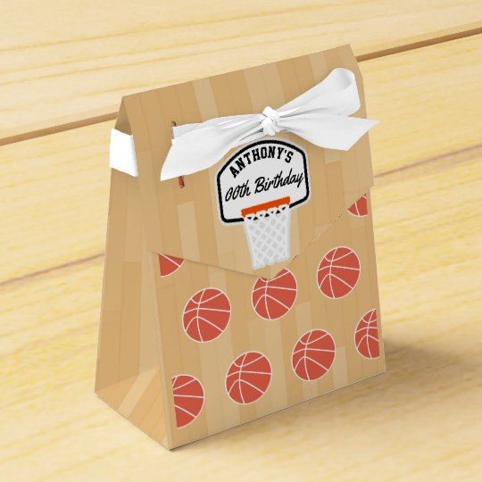 Basketball Birthday Party Guest Thank You Favor Boxes