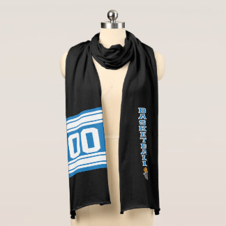Basketball Blue Letter | Personalize Scarf