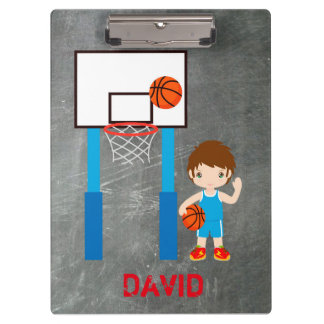 Basketball Boy Jersey Net Ball Clipboard