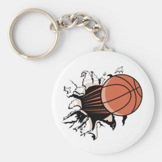 Basketball Burst T-shirts and Gifts Basic Round Button Keychain